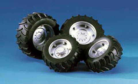 02316 Twin Tires with Silver Rims for 2000 series Tractors
