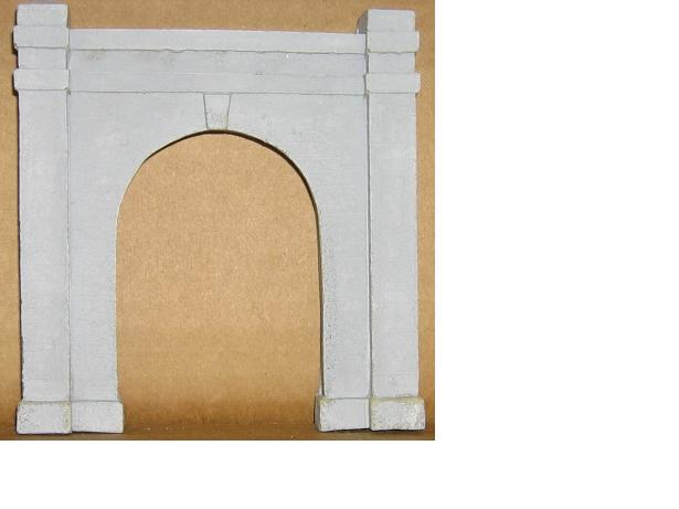 41650 Columbia #4-H.O. Scale-Detailed Concrete-One Track Portal