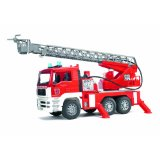 02771 MAN TGA Fire Engine w/Ladder, Water Pump & Light/Sound Mod