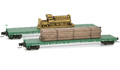 524 00 081 Great Northern 60' Flat Car w/ Timber Load