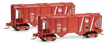 531 00 092 Central New Jersey PS-2 70 Ton Two-Bay Covered Hopper