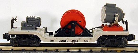 16720 #3650 Lionel Lines Extension Searchlight Car