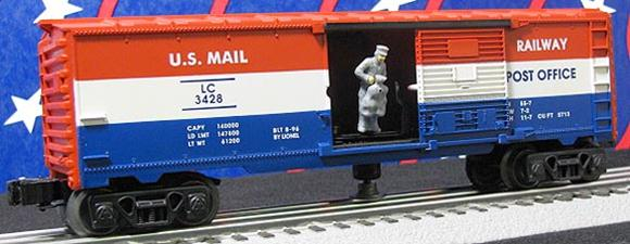 19830 3428 Lionel Corp. Animated Mail Car