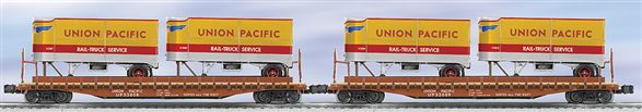 21860 Union Pacifc Trailers on Flat Car 2-pak