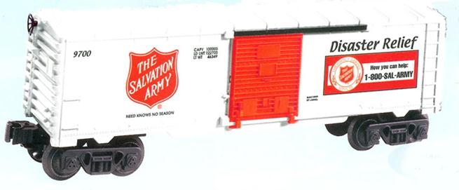 26256 9700 Boxcar Salvation Army