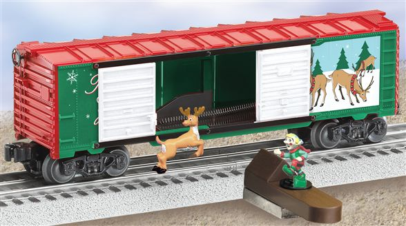36805 Reindeer Jumping Box Car