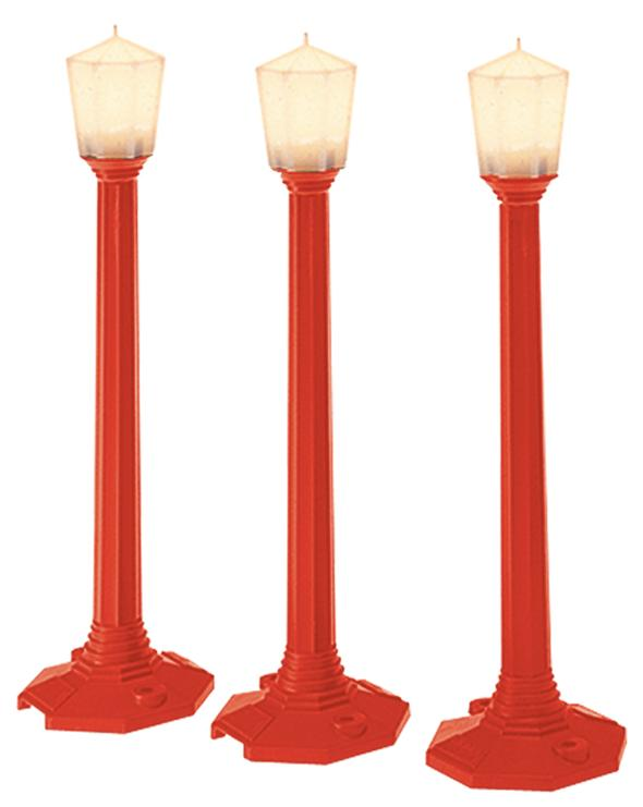 37151 Classic Street Lamps Christmas - Red