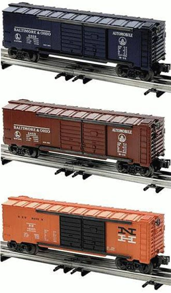 39227 6468 Automobile Boxcar 3-Pack