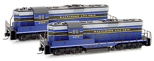 982 01 111 Baltimore & Ohio GP9 Powered Locomotive
