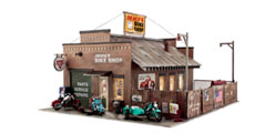 BR5846 Deuce's Bike Shop - O Scale - Assembled