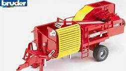 02130 Grimme SE75-30 potato digger with 80 imitation potatos