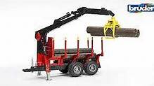 02252 Forestry trailer with loading crane, 4 trunks and grab