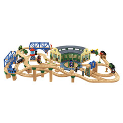 Y4474 Thomas & Friends™ Wooden Railway Tidmouth Sheds Deluxe Set