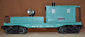 19714 New York Central Work Caboose w/ Searchlight