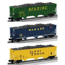 17783 3-Bay Open Hopper 3-Pack,Reading/Wabash/Illinois/Terminal