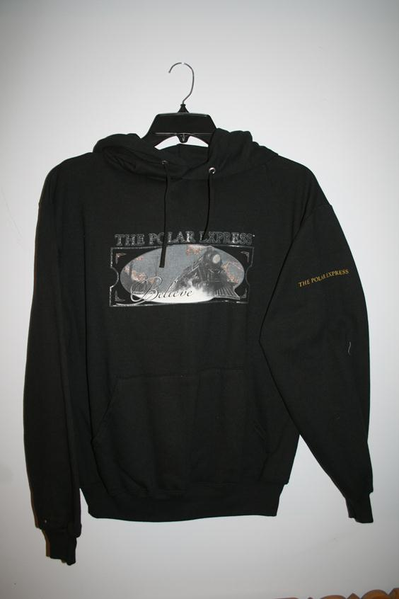 "1009AM Polar Express ""Train"" Hooded Sweatshirt - Black"