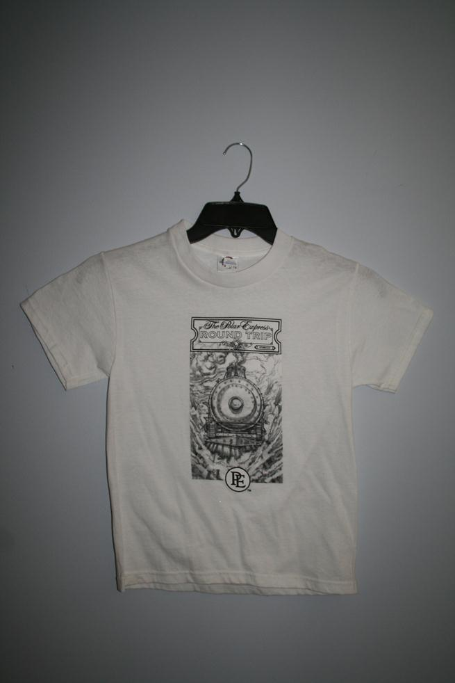 "1019YM Polar Express ""Round Trip"" Short Sleeve T-Shirt - White"