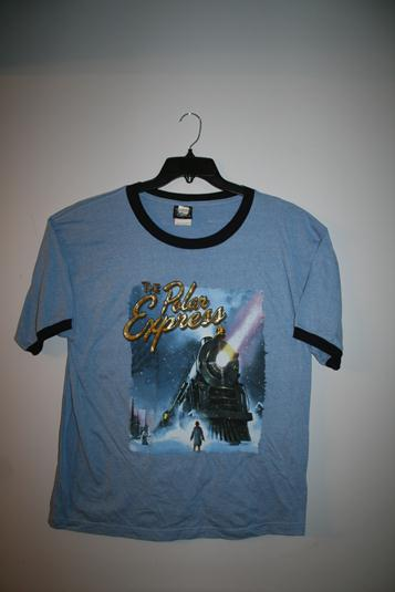 "1005AL Polar Express ""Poster"" Short Sleeve T-Shirt - BLUE"