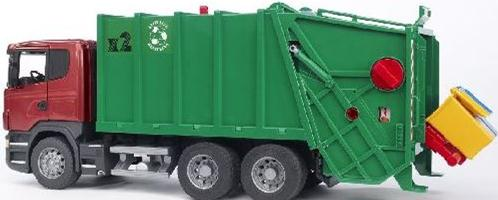 03561 Scania R Series Garbage Truck (Red- Green) D