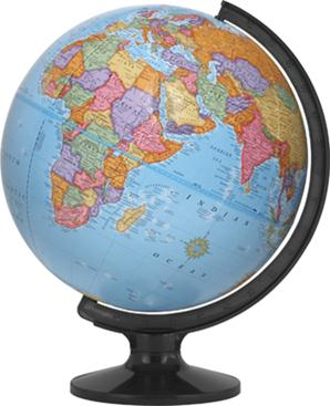 "12"" World Globe Made in USA!"
