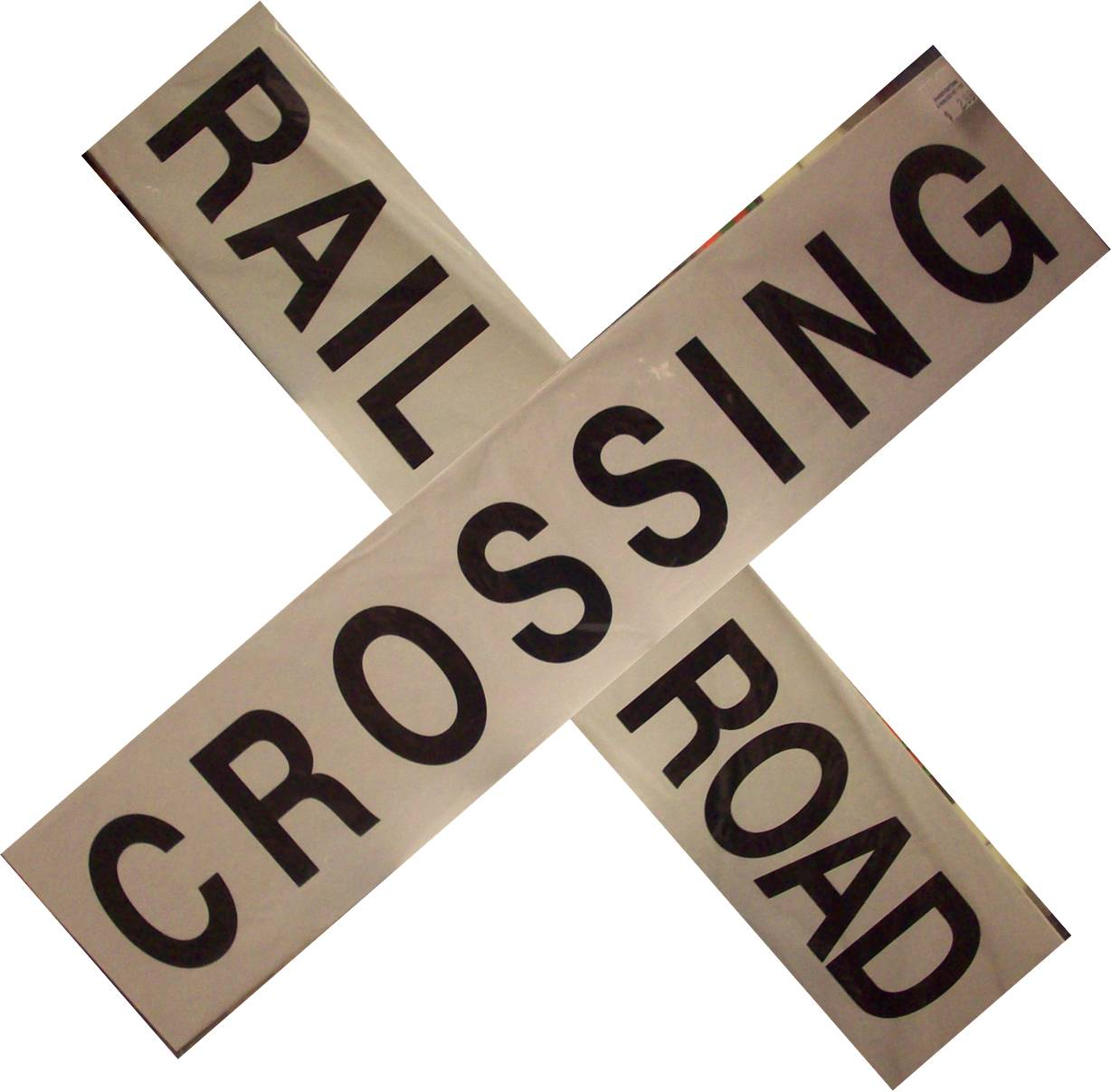 "Railroad Crossing Crossbucks 24"" cardstock"
