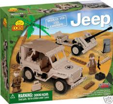24181 Jeep Willys with Cannon Set