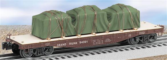 27544 Grand Trunk 40' Flatcar with Covered Load #64301