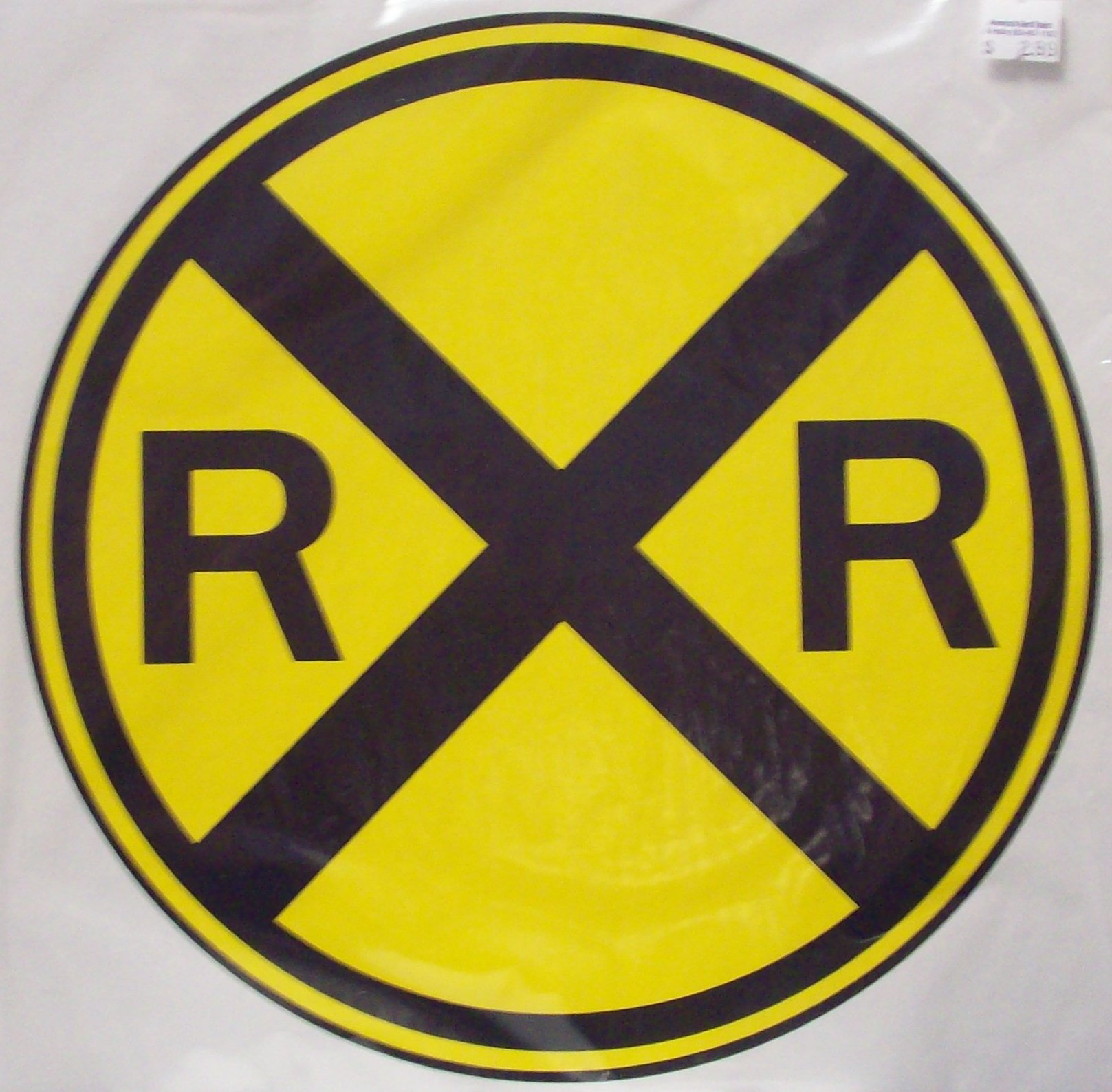 "Railroad Crossing Warning Sign 11 1/4"" Cardstock"