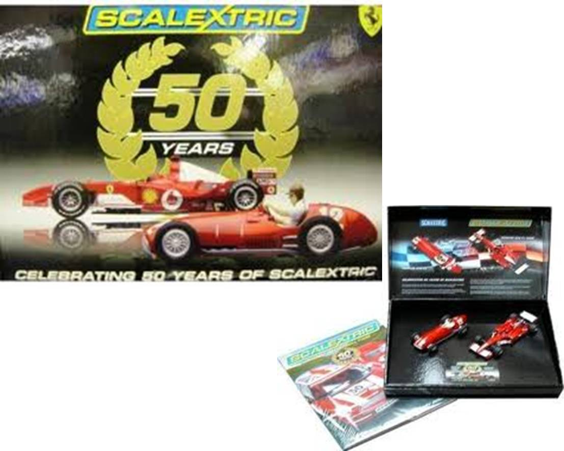 50 Years of Scalextric Limited Edition 2-car Ferrari Set 1:32